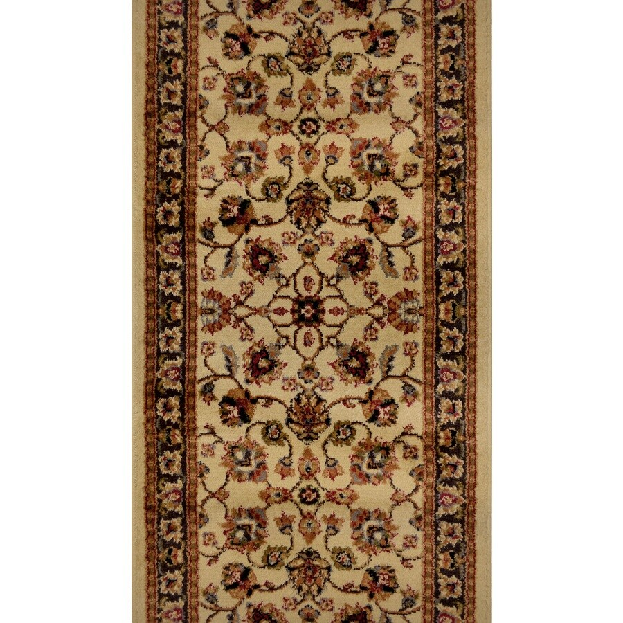 Home Dynamix Paris Ivory Rectangular Indoor Woven Runner (Common: 2 x 38; Actual: 27-in W x 444-in L)
