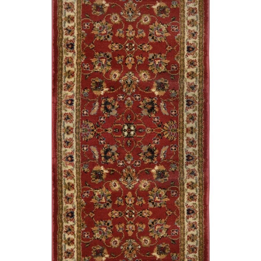 Home Dynamix Paris Red Rectangular Indoor Woven Runner (Common: 2 x 8; Actual: 27-in W x 84-in L)