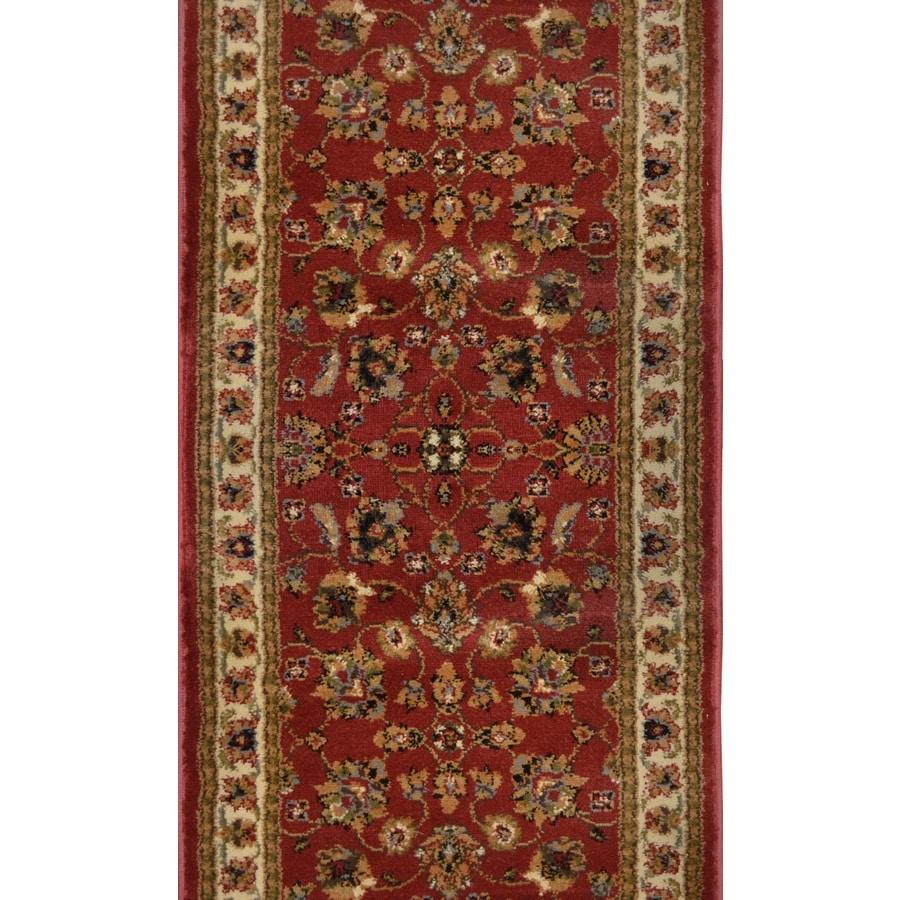 Home Dynamix Paris Red Rectangular Indoor Woven Runner (Common: 2 x 10; Actual: 27-in W x 120-in L)