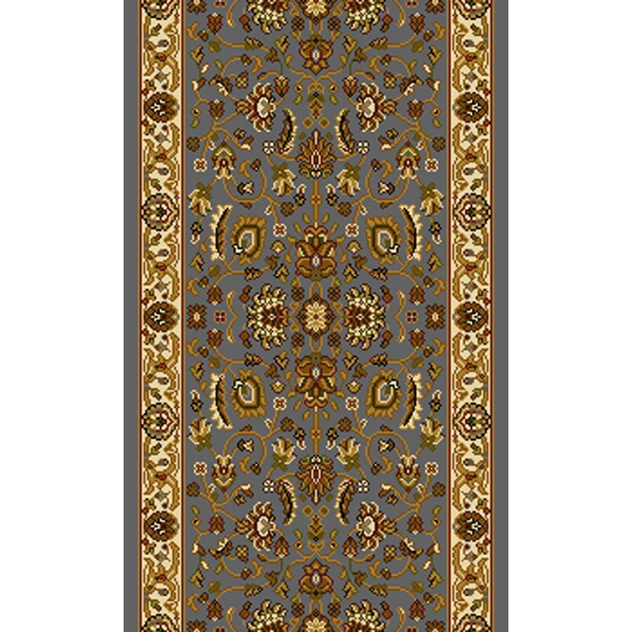 Home Dynamix Brussels Blue and Ivory Rectangular Indoor Woven Runner (Common: 2 x 28; Actual: 27-in W x 324-in L)