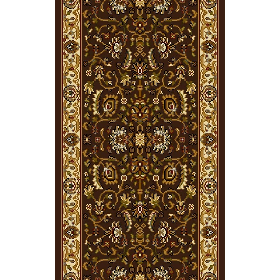 Home Dynamix Brussels Brown and Ivory Rectangular Indoor Woven Runner (Common: 2 x 8; Actual: 27-in W x 96-in L)