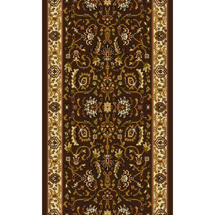 Home Dynamix Brussels Brown and Ivory Rectangular Indoor Woven Runner (Common: 2 x 24; Actual: 27-in W x 288-in L)