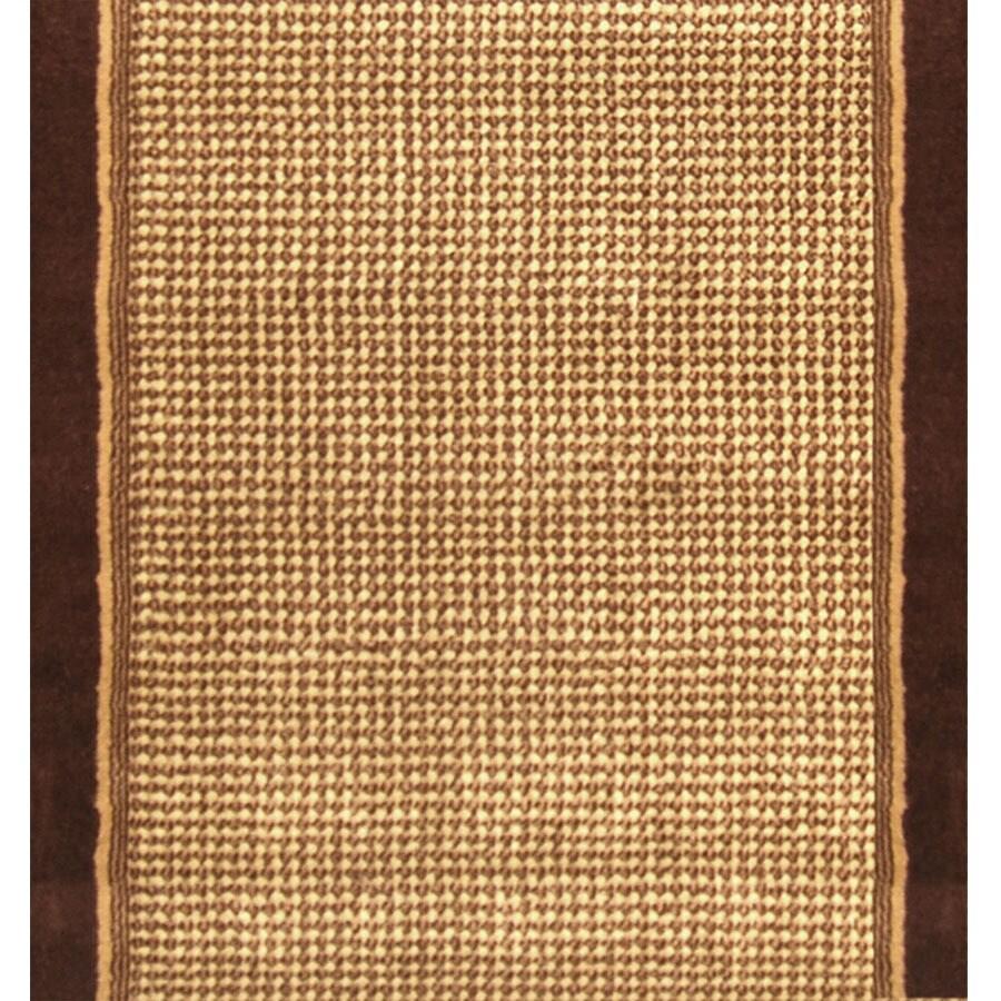 Home Dynamix Madrid Brown Rectangular Indoor Woven Runner (Common: 2 x 24; Actual: 27-in W x 276-in L)