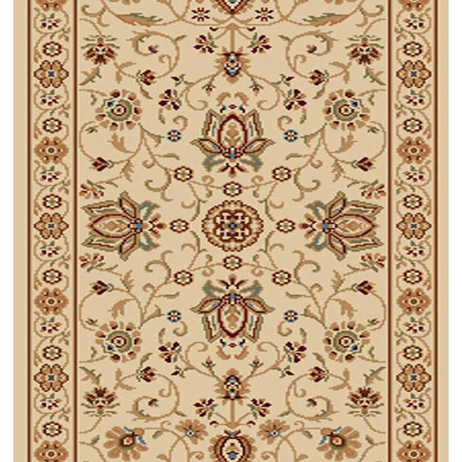 Home Dynamix Rome Ivory Rectangular Indoor Woven Runner (Common: 2 x 40; Actual: 27-in W x 480-in L)