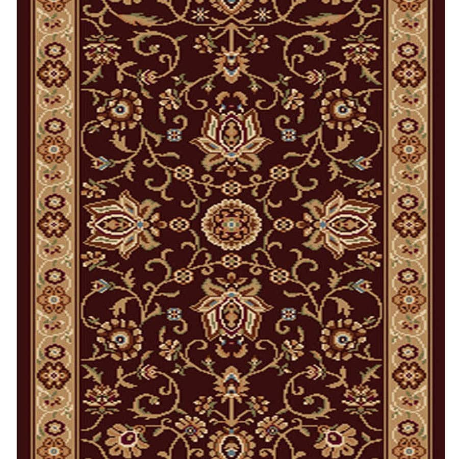 Home Dynamix Rome Brown and Gold Rectangular Indoor Woven Runner (Common: 2 x 20; Actual: 27-in W x 228-in L)