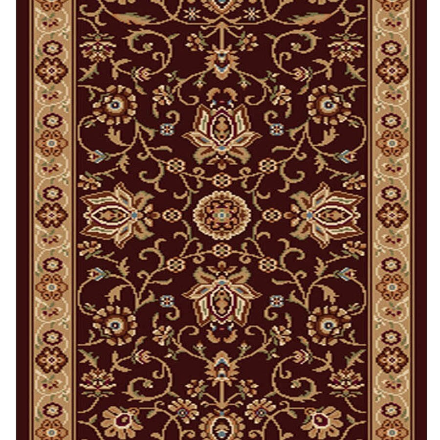 Home Dynamix Rome Brown and Gold Rectangular Indoor Woven Runner (Common: 2 x 20; Actual: 27-in W x 240-in L)