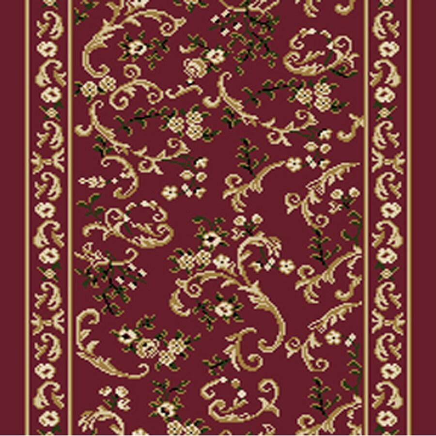 Home Dynamix Geneva Red Rectangular Indoor Woven Runner (Common: 2 x 32; Actual: 27-in W x 384-in L)