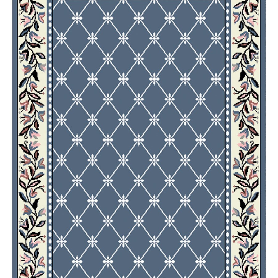Home Dynamix London Country Blue Rectangular Indoor Woven Runner (Common: 2 x 26; Actual: 27-in W x 300-in L)
