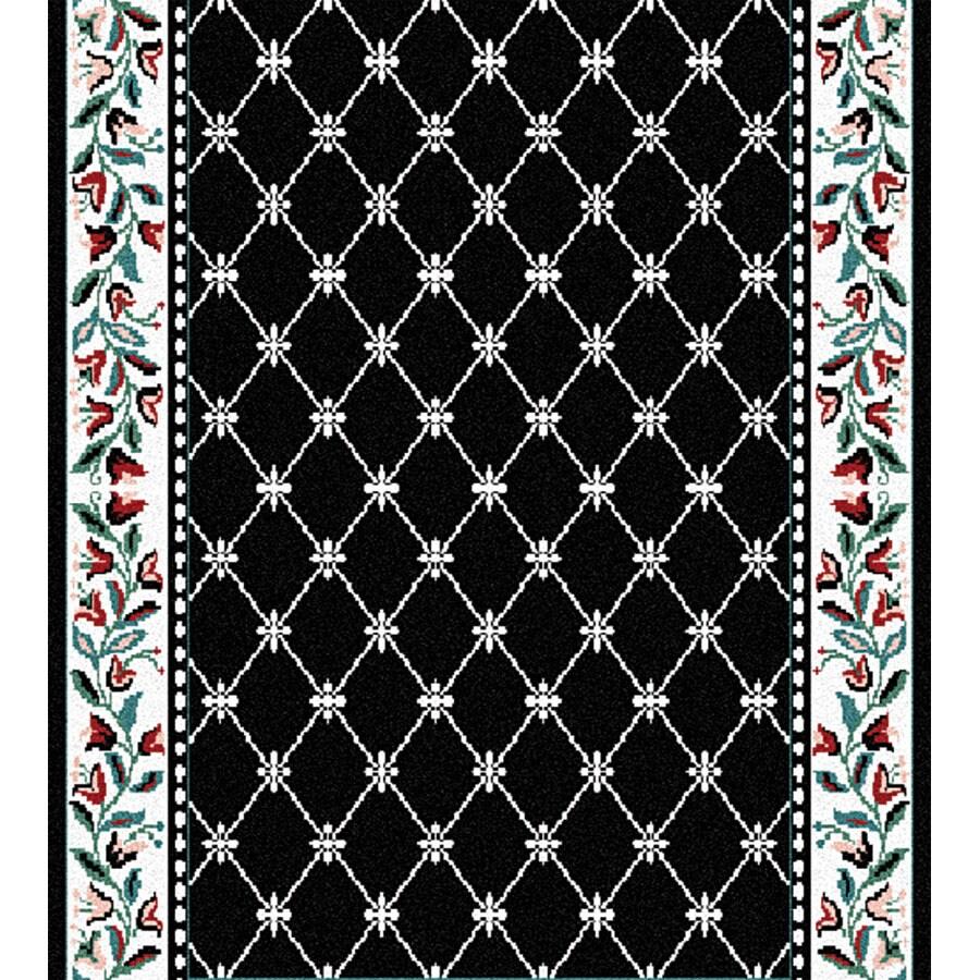 Home Dynamix London Black Rectangular Indoor Woven Runner (Common: 2 x 20; Actual: 27-in W x 240-in L)