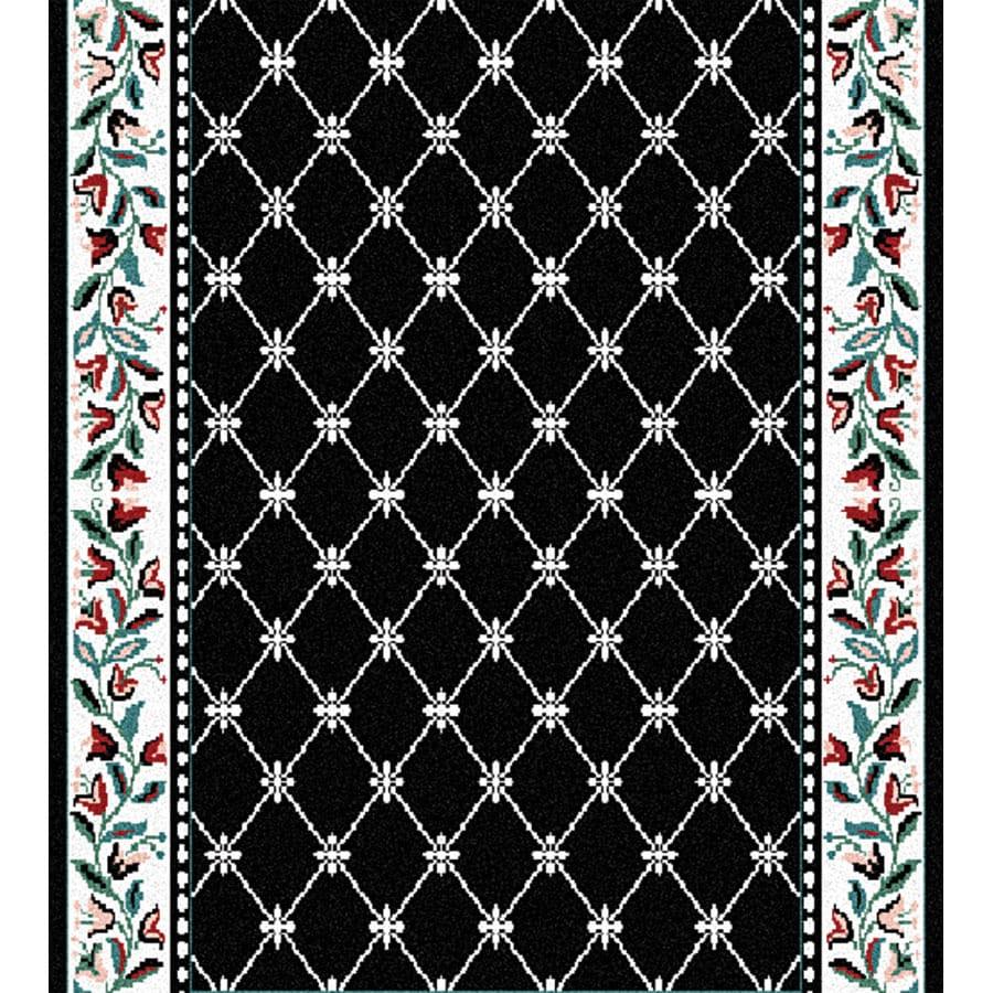 Home Dynamix London Black Rectangular Indoor Woven Runner (Common: 2 x 38; Actual: 27-in W x 456-in L)
