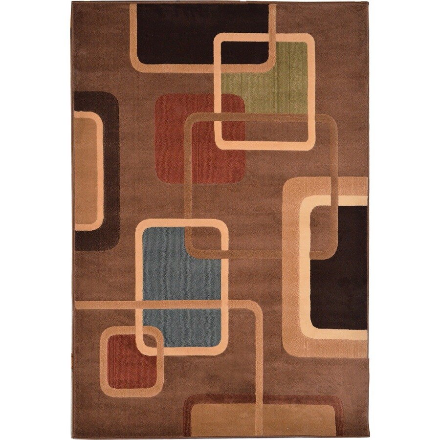 Home Dynamix Catalina Brown Rectangular Indoor Woven Area Rug (Common: 5 x 8; Actual: 94-in W x 125-in L)