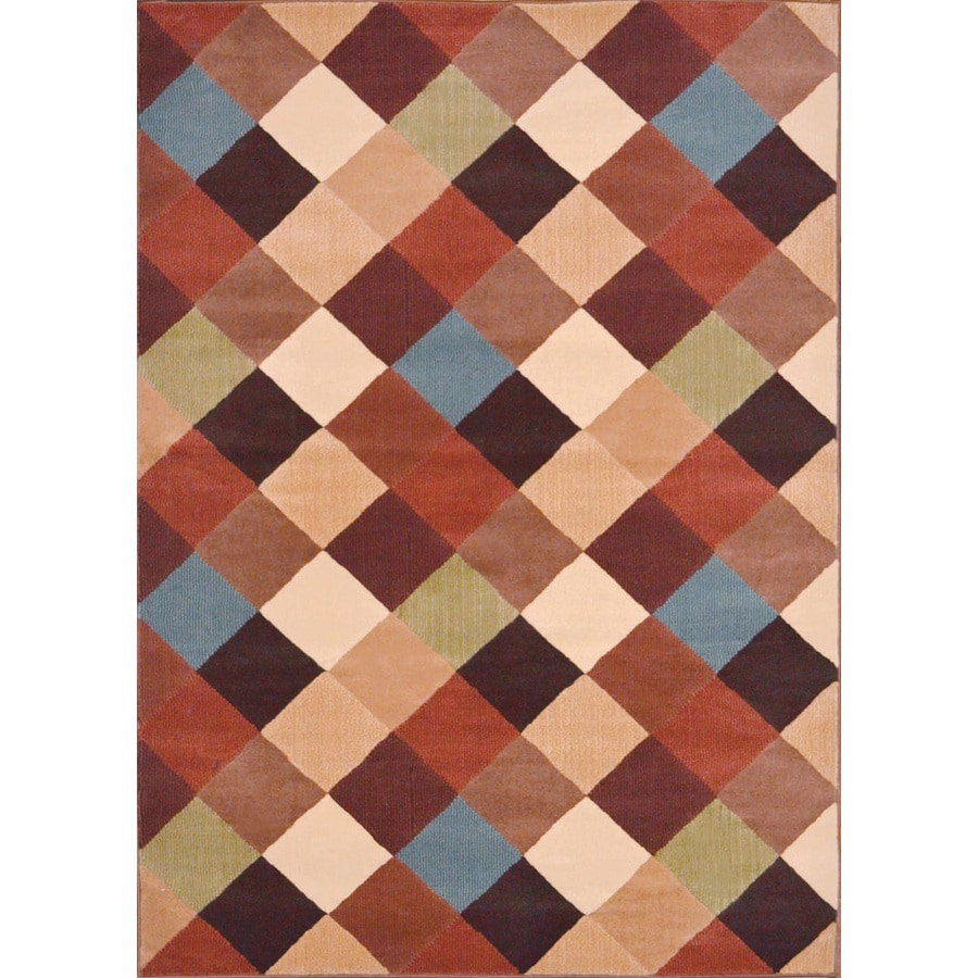 Home Dynamix Catalina Multicolor Rectangular Indoor Woven Area Rug (Common: 5 x 8; Actual: 63-in W x 91-in L)