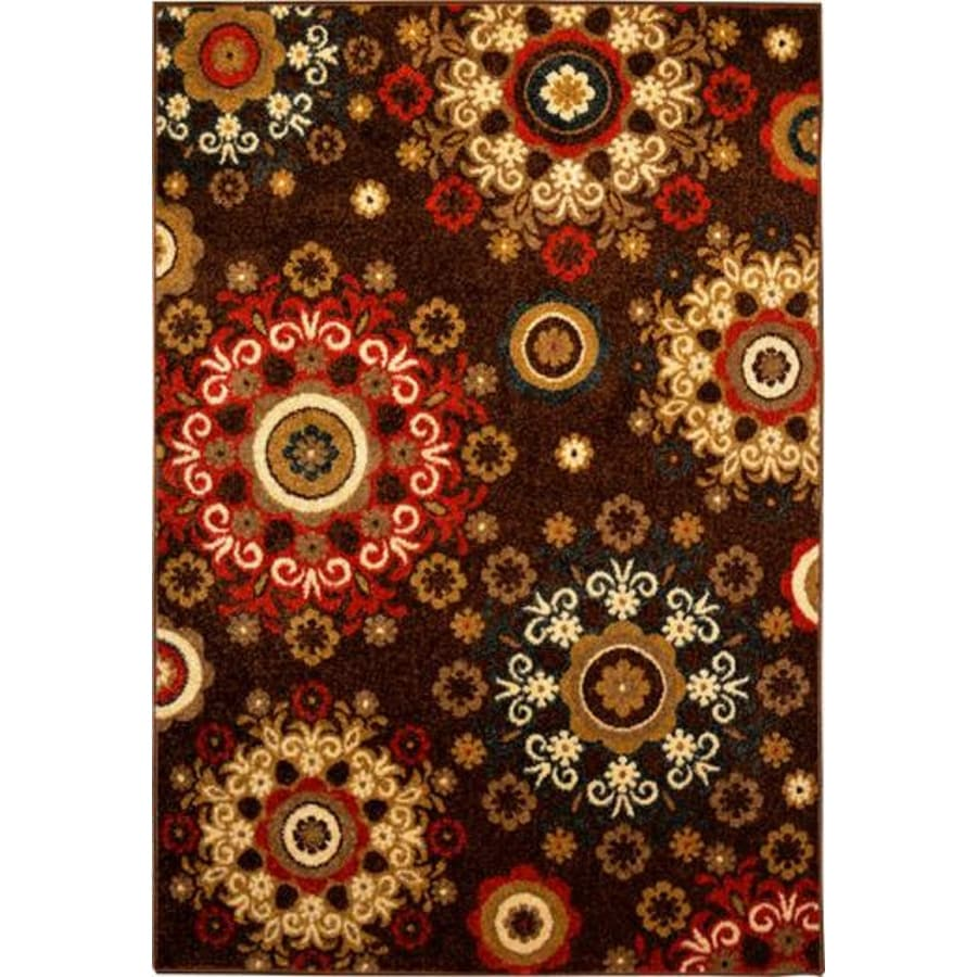 Home Dynamix Reaction Brown Rectangular Indoor Woven Area Rug (Common: 8 x 10; Actual: 94-in W x 122-in L)