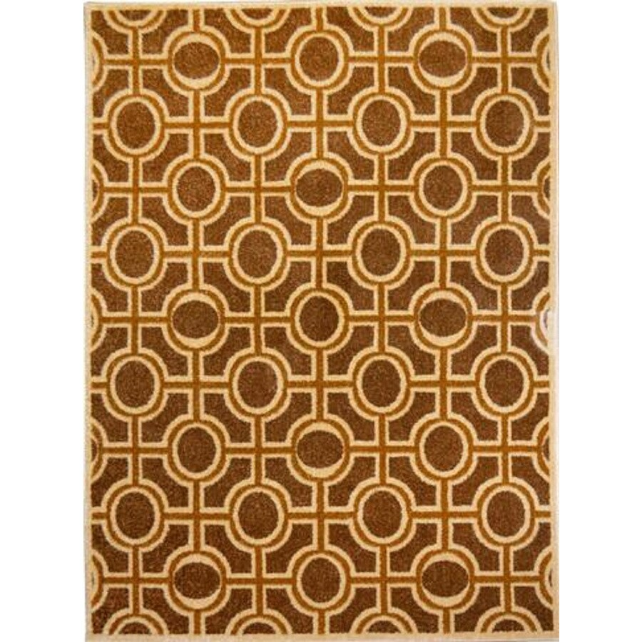 Home Dynamix Reaction Brown Rectangular Indoor Woven Area Rug (Common: 5 x 8; Actual: 63-in W x 91-in L)