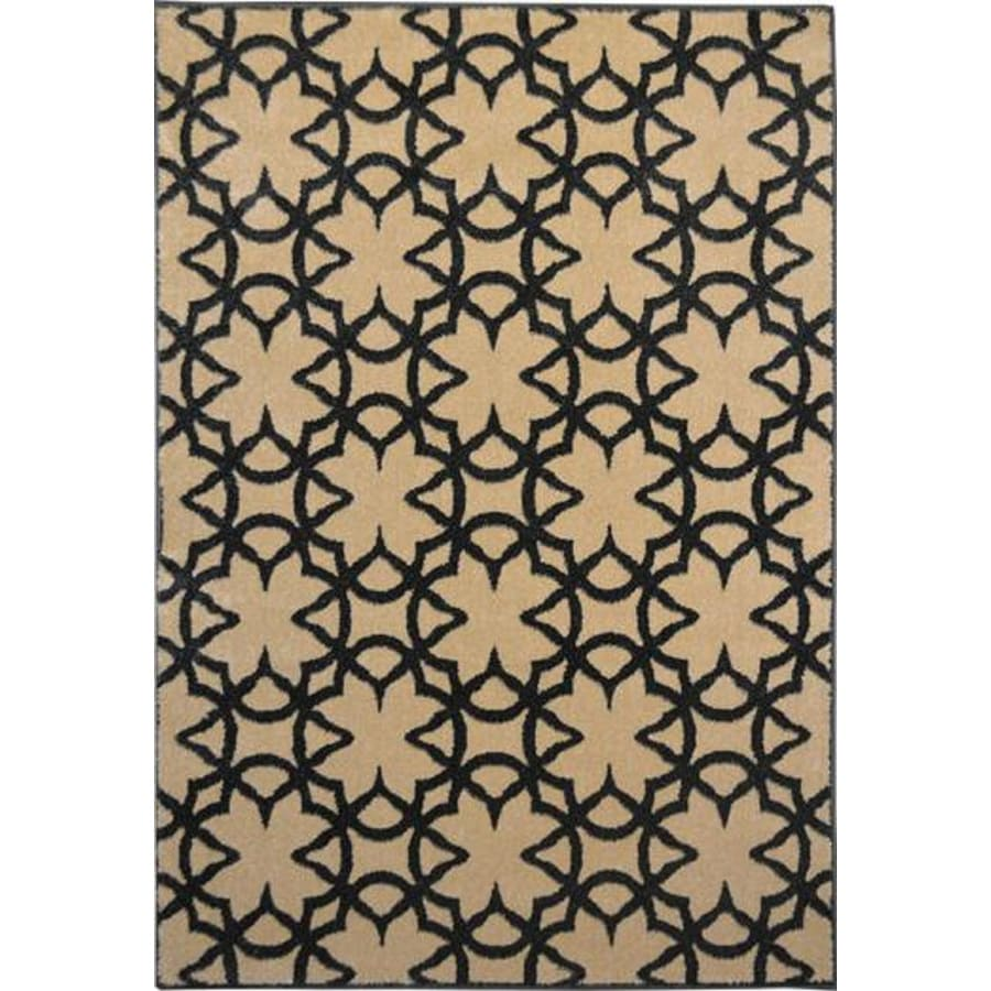 Home Dynamix Reaction Cream Rectangular Indoor Woven Area Rug (Common: 5 x 8; Actual: 63-in W x 91-in L)