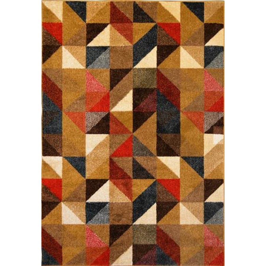 Home Dynamix Reaction Multicolor Rectangular Indoor Woven Throw Rug (Common: 4 x 6; Actual: 39-in W x 55-in L)