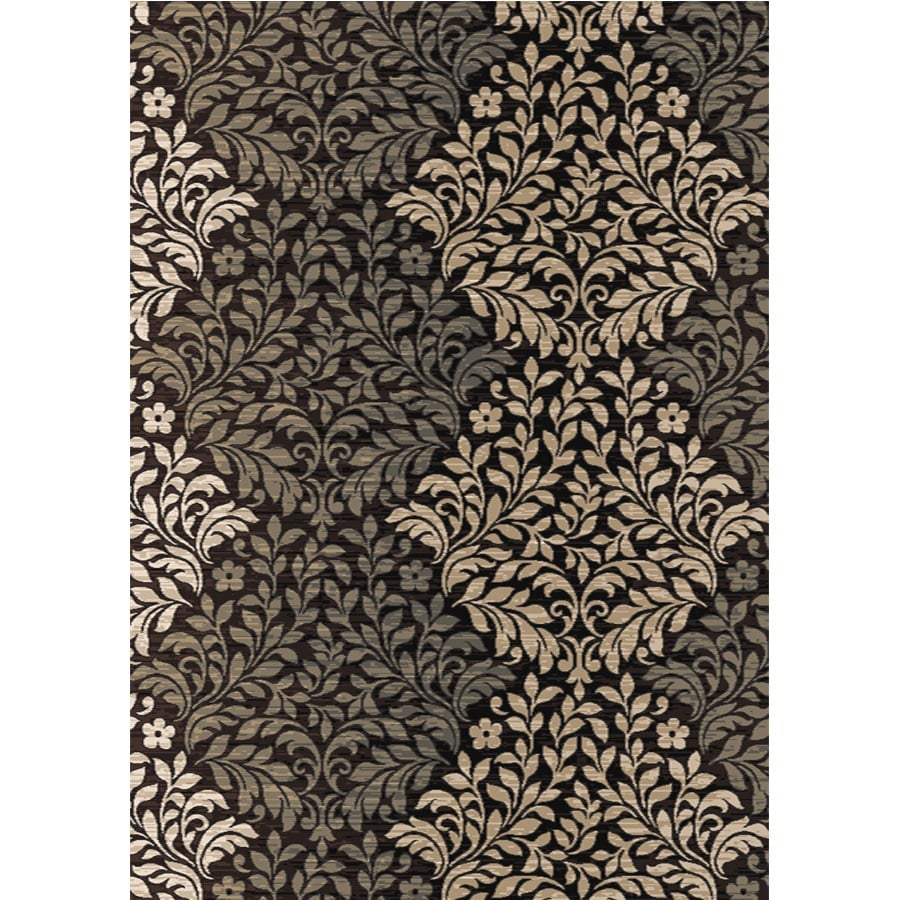 Home Dynamix Royalty Brown Rectangular Indoor Woven Area Rug (Common: 8 x 10; Actual: 92-in W x 124-in L)