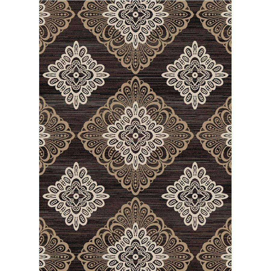 Home Dynamix Royalty Taupe and Gray Rectangular Indoor Woven Area Rug (Common: 8 x 10; Actual: 92-in W x 124-in L)