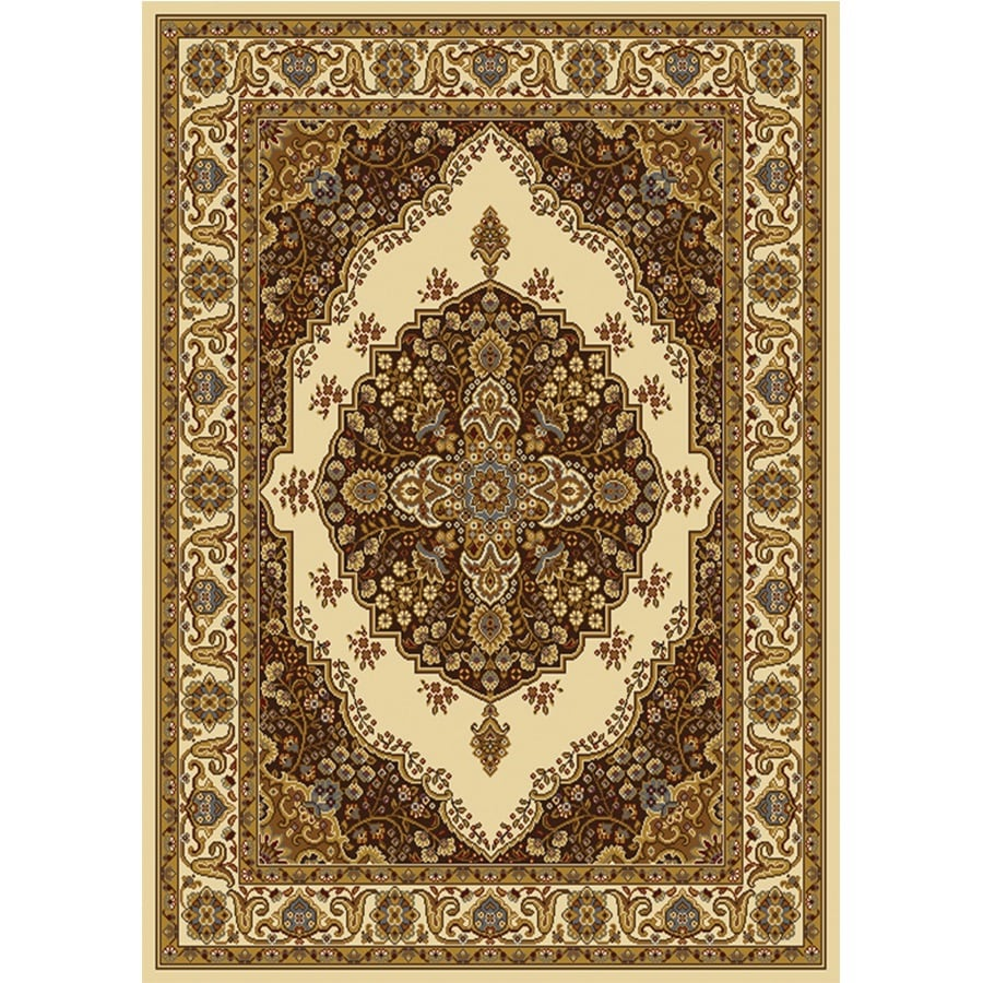 Home Dynamix Royalty Ivory Rectangular Indoor Woven Area Rug (Common: 5 x 8; Actual: 92-in W x 124-in L)