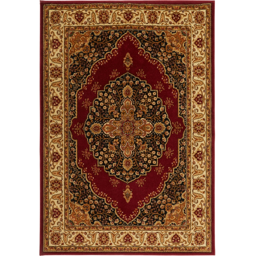 Home Dynamix Royalty Red and Ivory Rectangular Indoor Woven Area Rug (Common: 5 x 8; Actual: 92-in W x 124-in L)