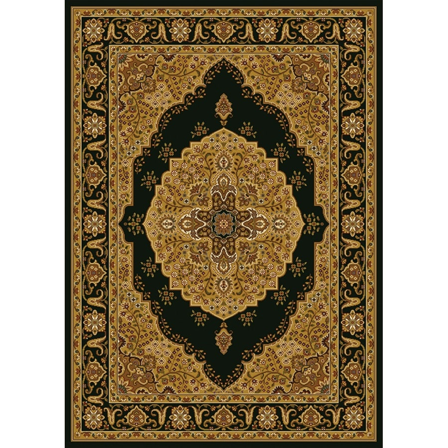 Home Dynamix Royalty Black and Ivory Rectangular Indoor Woven Area Rug (Common: 5 x 8; Actual: 92-in W x 124-in L)