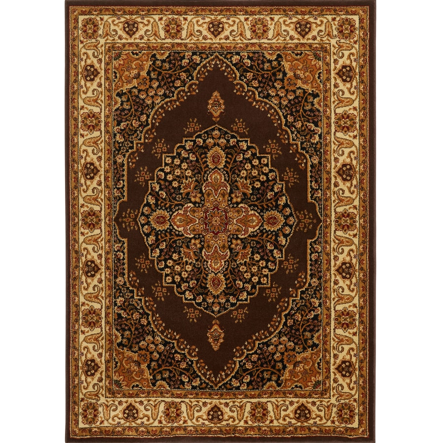 Home Dynamix Royalty Brown and Ivory Rectangular Indoor Woven Area Rug (Common: 5 x 8; Actual: 92-in W x 124-in L)