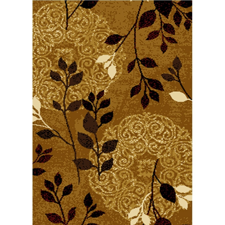 Home Dynamix Royalty Gold Rectangular Indoor Woven Area Rug (Common: 5 x 8; Actual: 62-in W x 86-in L)