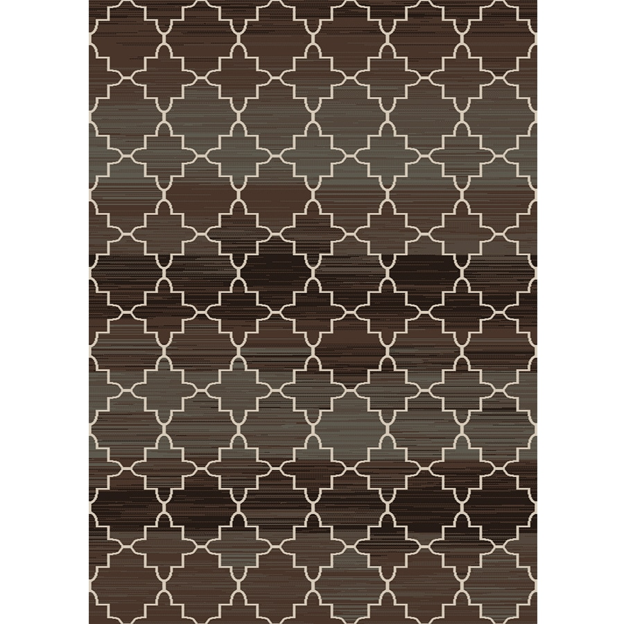Home Dynamix Royalty Black and Brown Rectangular Indoor Woven Area Rug (Common: 5 x 8; Actual: 62-in W x 86-in L)