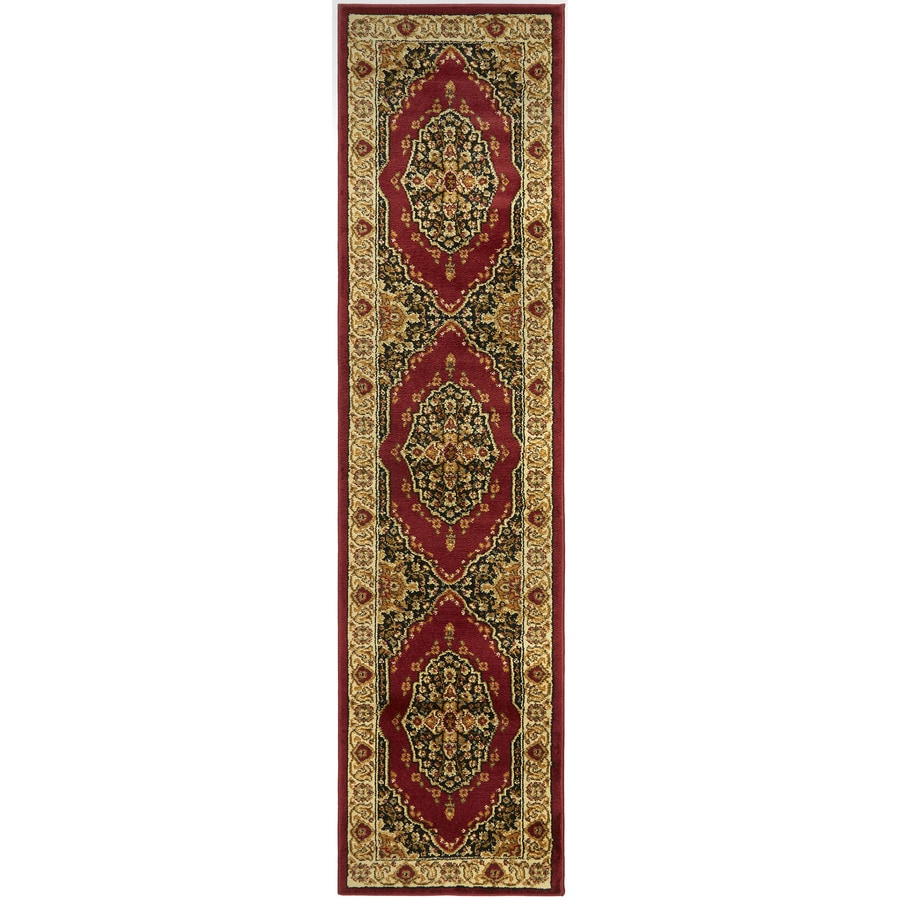 Home Dynamix Royalty Red and Ivory Rectangular Indoor Woven Runner (Common: 2 x 8; Actual: 21-in W x 86-in L)