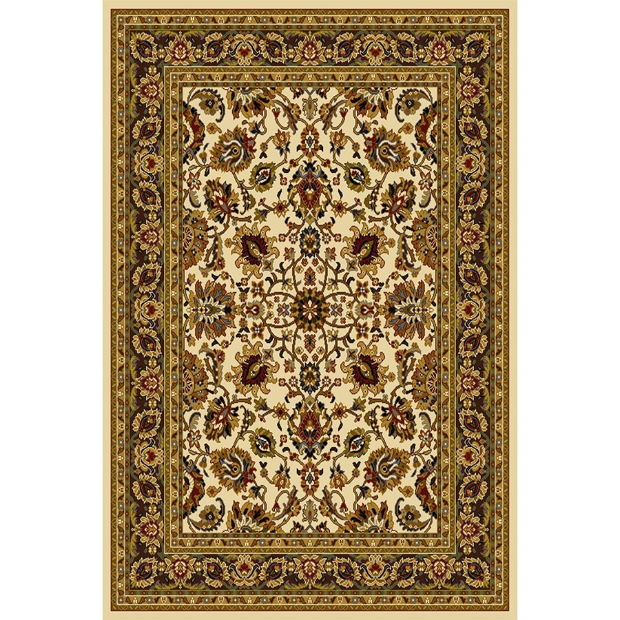 Home Dynamix Paris Ivory Rectangular Indoor Woven Throw Rug (Common: 2 x 4; Actual: 31.4-in W x 51.1-in L)