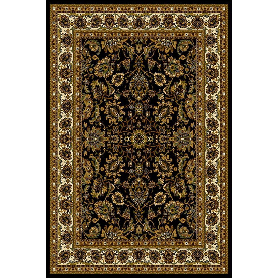 Home Dynamix Paris Black Rectangular Indoor Woven Throw Rug (Common: 2 x 4; Actual: 31.4-in W x 51.1-in L)