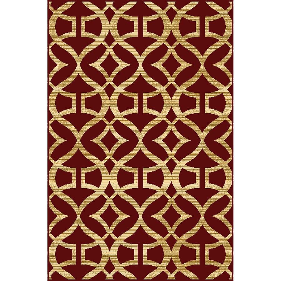 Home Dynamix Caracas Red Rectangular Indoor Woven Throw Rug (Common: 2 x 4; Actual: 31.4-in W x 51.1-in L)