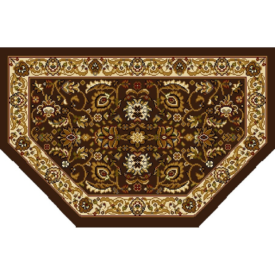 Home Dynamix Brussels Brown and Ivory Hexagonal Indoor Woven Throw Rug (Common: 2 x 3; Actual: 23.6-in W x 39.3-in L)