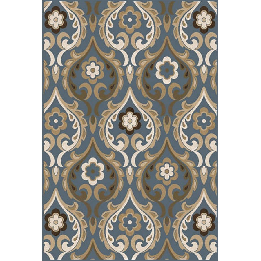 Home Dynamix Cape Town Blue Rectangular Indoor Woven Area Rug (Common: 8 x 10; Actual: 92-in W x 124-in L)