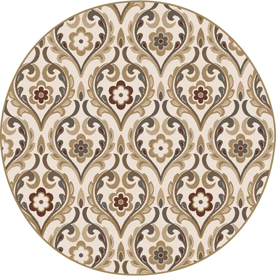 Home Dynamix Cape Town Round Indoor Woven Area Rug (Common: 4 x 4; Actual: 39.3-in W x 39.3-in L)