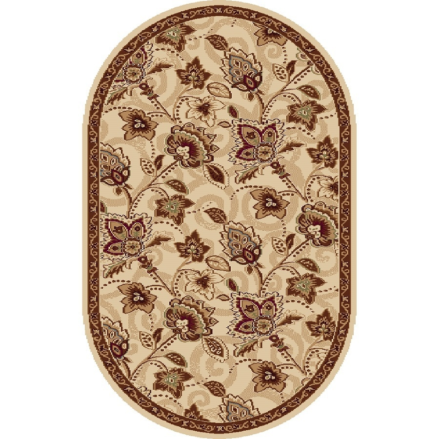Home Dynamix Lisbon Oval Indoor Woven Throw Rug (Common: 2 x 4; Actual: 31-in W x 50-in L)