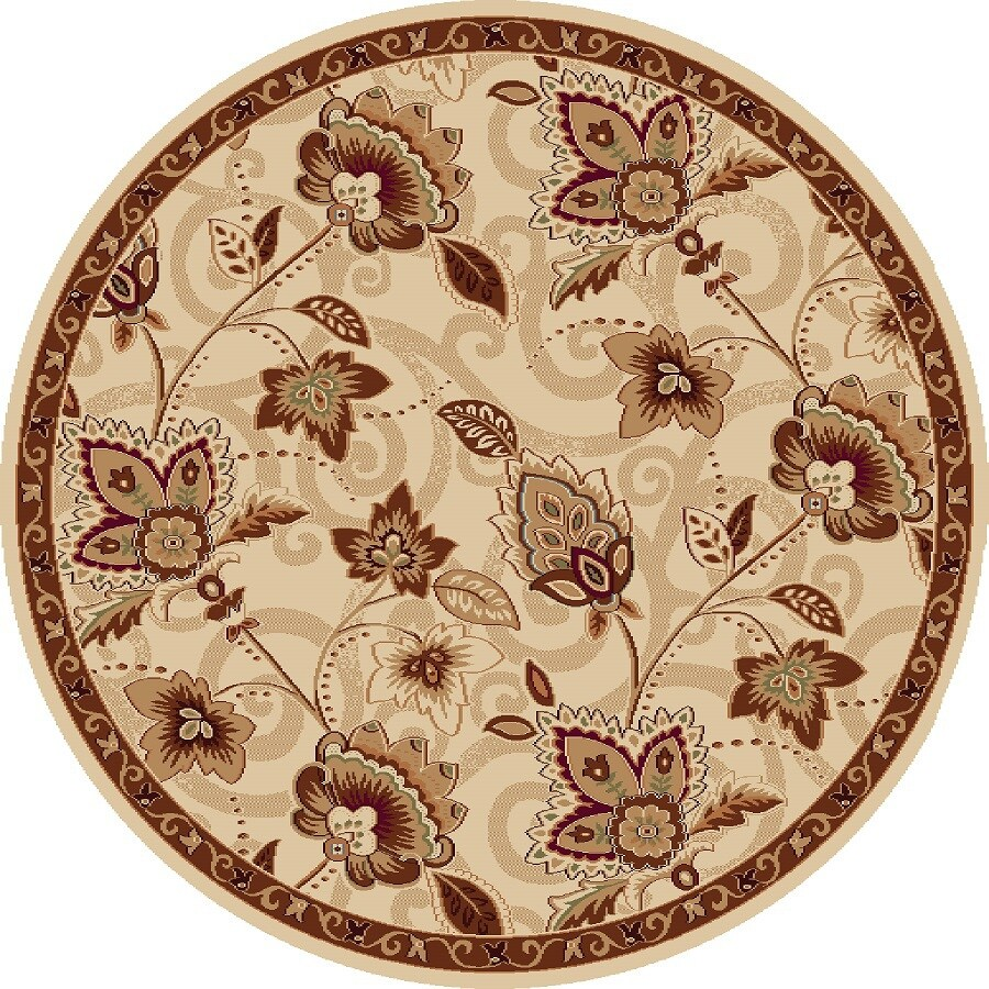 Home Dynamix Lisbon Round Indoor Woven Area Rug (Common: 4 x 4; Actual: 39-in W x 39-in L)
