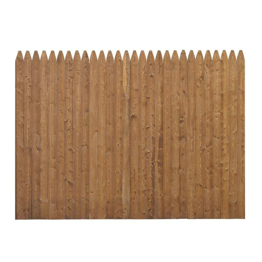 Severe Weather Cedartone Spruce Pine Fir Privacy Fence Panel (Common: 8-ft x 6-ft; Actual: 8-ft x 5.91-ft)