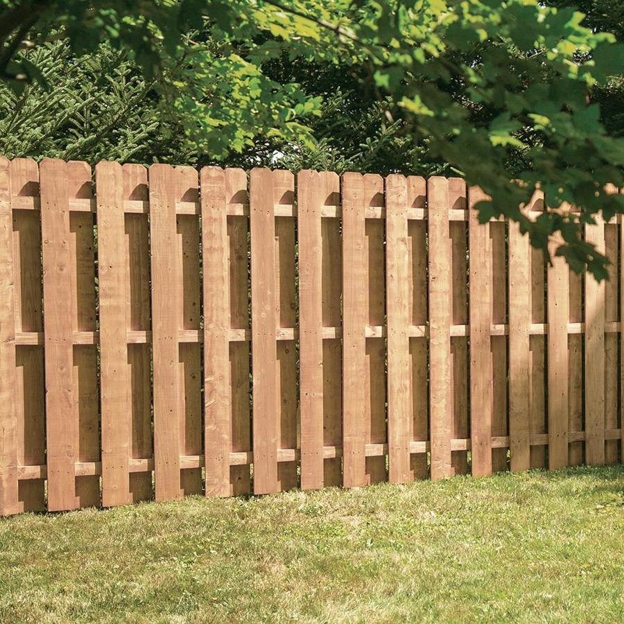 Severe Weather Cedartone Spruce Pine Fir Privacy Fence Panel (Common: 8-ft x 6-ft; Actual: 8-ft x 6-ft)