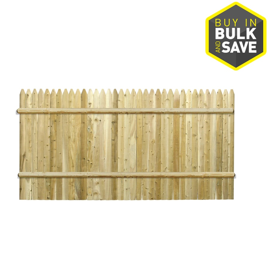 Severe Weather Cedar Privacy Fence Panel (Common: 8-ft x 4-ft; Actual: 8-ft x 3.95-ft)