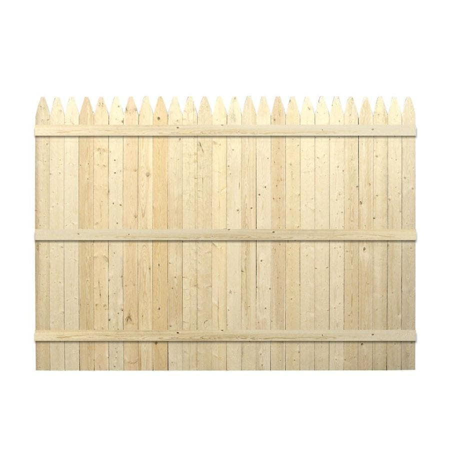 Severe Weather Spruce Pine Fir Privacy Fence Panel (Common: 8-ft x 6-ft; Actual: 8-ft x 5.91-ft)