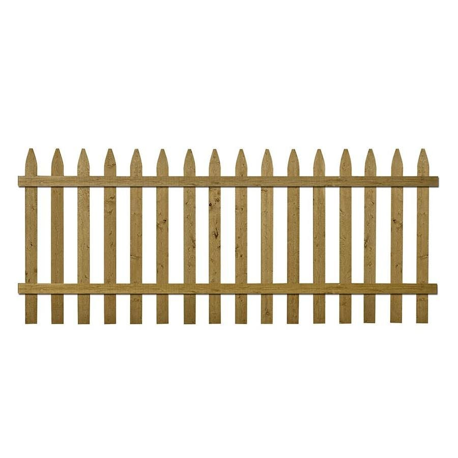 Severe Weather Pressure Treated Spruce Pine Fir Fence Panel (Common: 8-ft x 3.5-ft; Actual: 8-ft x 3.45-ft)