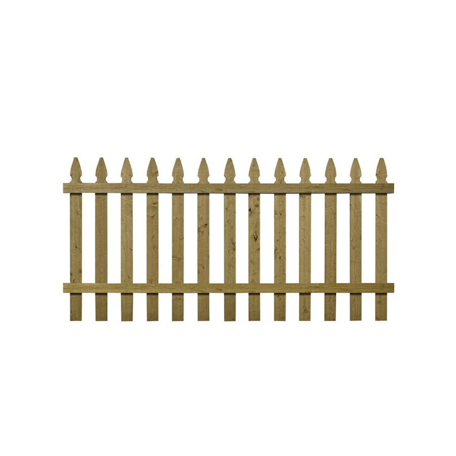 Severe Weather Pressure Treated Spruce Pine Fir Privacy Fence Panel (Common: 8-ft x 3.5-ft; Actual: 8-ft x 3.45-ft)