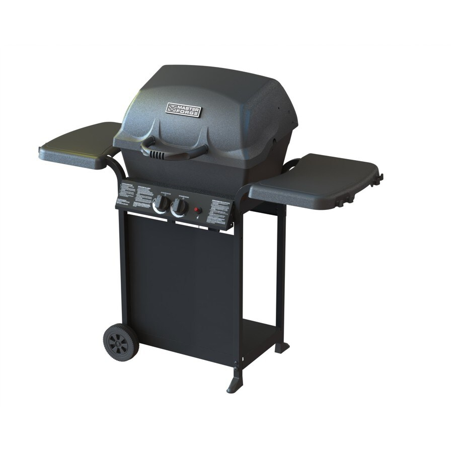 Master Forge Master Forge Black Porcelain Coated 2-Burner (30,000-BTU) Liquid Propane Gas Grill
