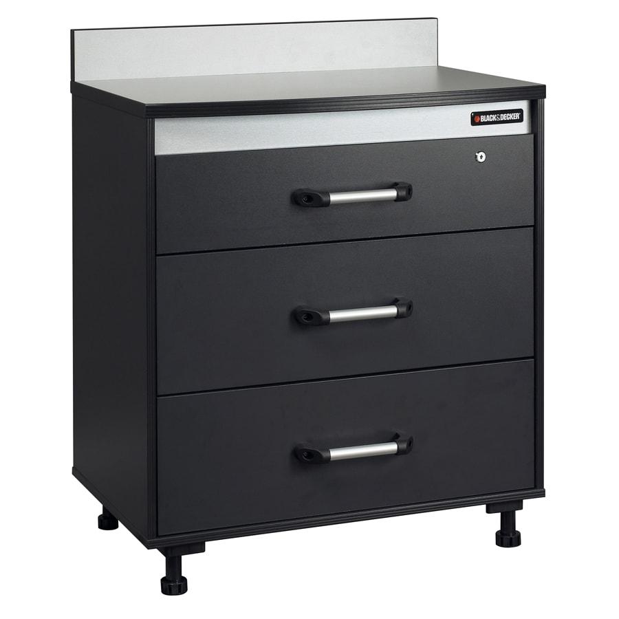 BLACK & DECKER 37.75-in H x 31.38-in W x 19.75-in D Wood Composite Garage Cabinet