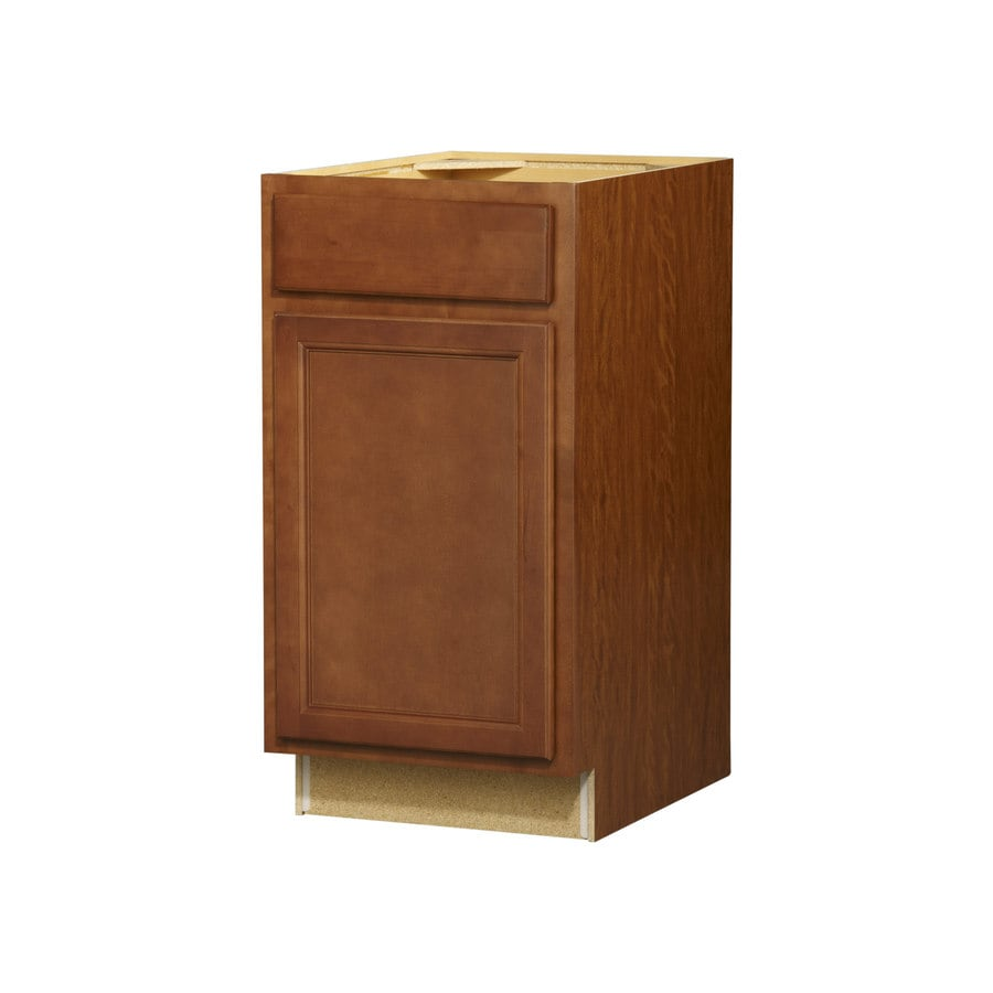 Kitchen Classics Napa 18-in W x 35-in H x 23.75-in D Saddle Door and Drawer Base Cabinet