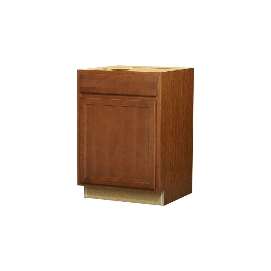 Kitchen Classics Napa 24-in W x 35-in H x 23.75-in D Saddle Door and Drawer Base Cabinet
