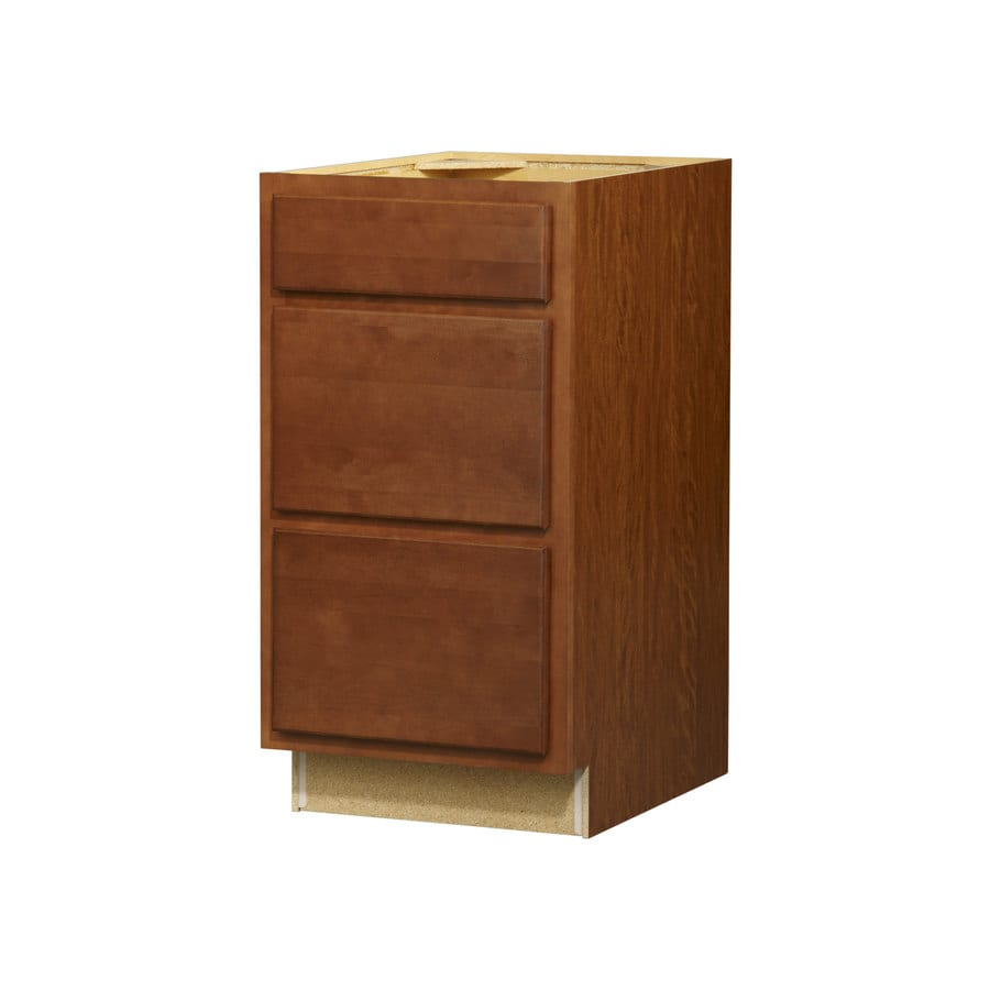 Kitchen Classics Napa 18-in W x 35-in H x 23.75-in D Saddle Drawer Base Cabinet