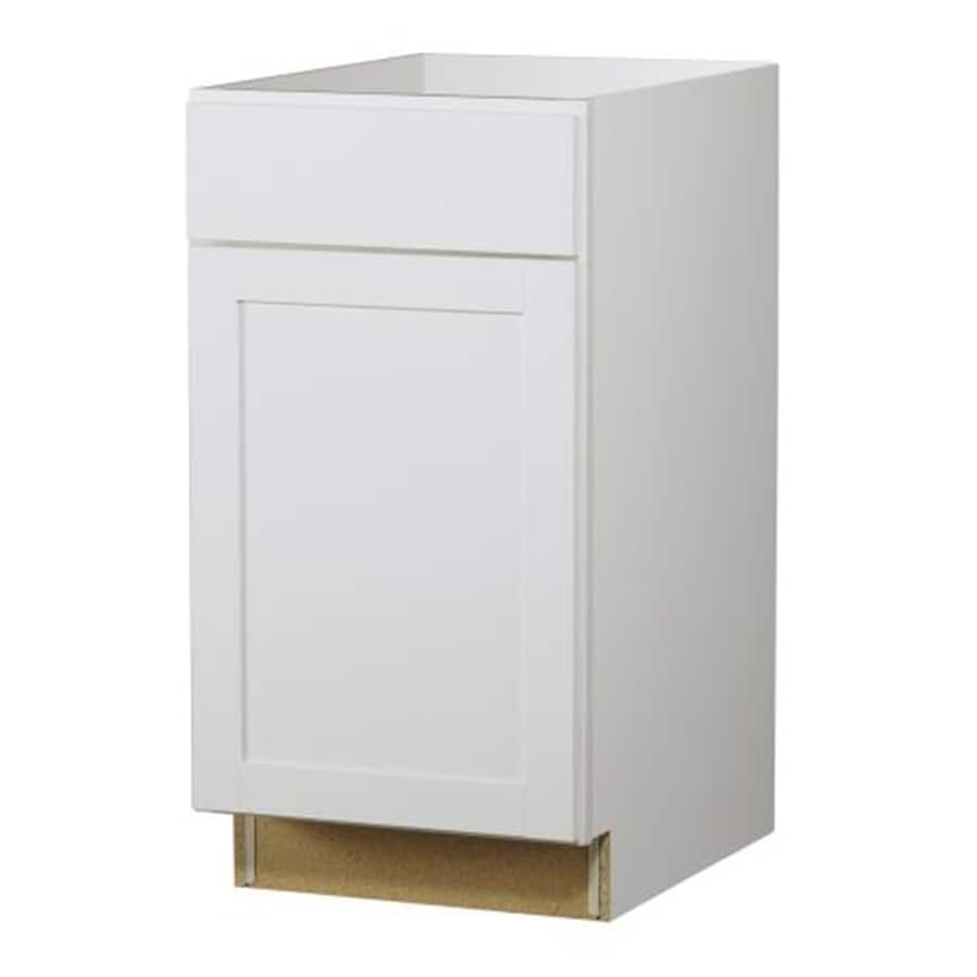 Kitchen Classics Arcadia 18-in W x 35-in H x 23.75-in D White Door and Drawer Base Cabinet