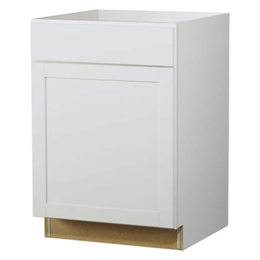 Kitchen Classics Arcadia 24-in W x 35-in H x 23.75-in D White Door and Drawer Base Cabinet